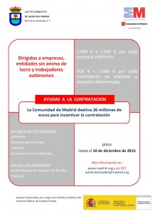 cartel ayudas a la contratación julio 2013