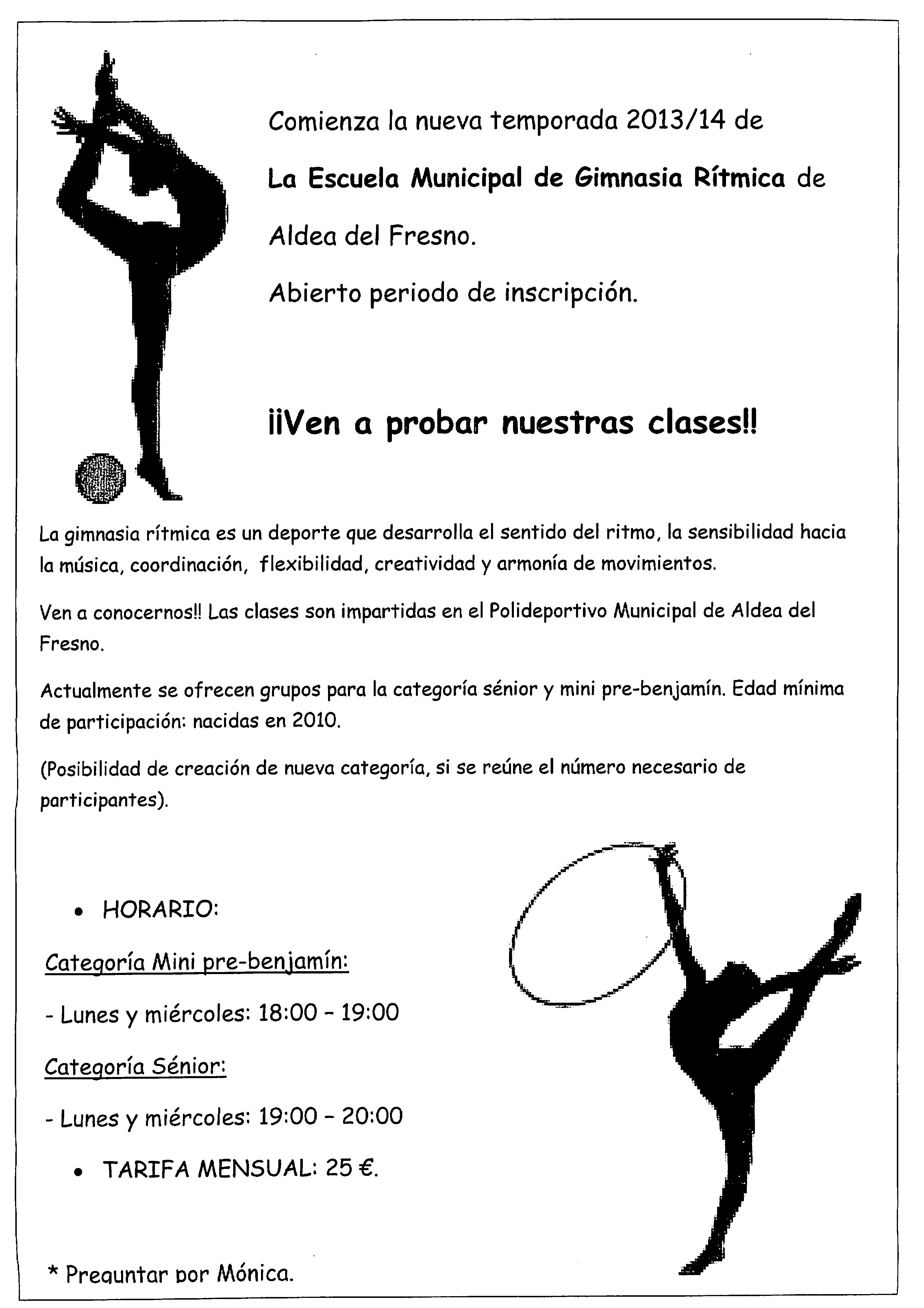 nueva temporada de la escuela de gimnasia r u00edtmica de aldea