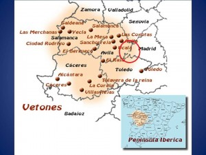 Distribución geográfica del pueblo vettón.