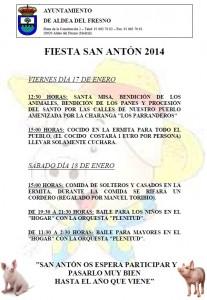 Cartel Fiestas San Anton 2014