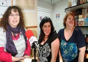 Aileen Diolch, Noe Casado y Noelia Amarillo.