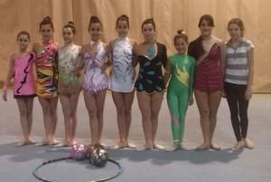 De izquierda a derecha: Lucía, Andrea, Carlota, Yolanda, Lorena, Andrea, Noelia, Ainara y Daniela.