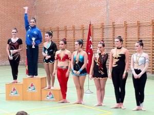 Pódium en la categoría cadete: 3º puesto gimnasta local