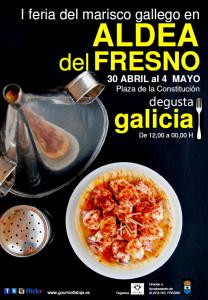 Cartel I Feria del Marisco Gallego en Aldea del Fresno