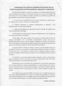 Comunicado equipo Gobierno Cenicientos 1