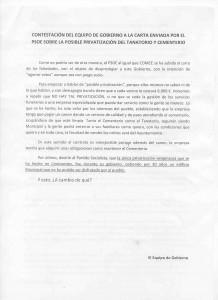 Comunicado equipo Gobierno Cenicientos 2