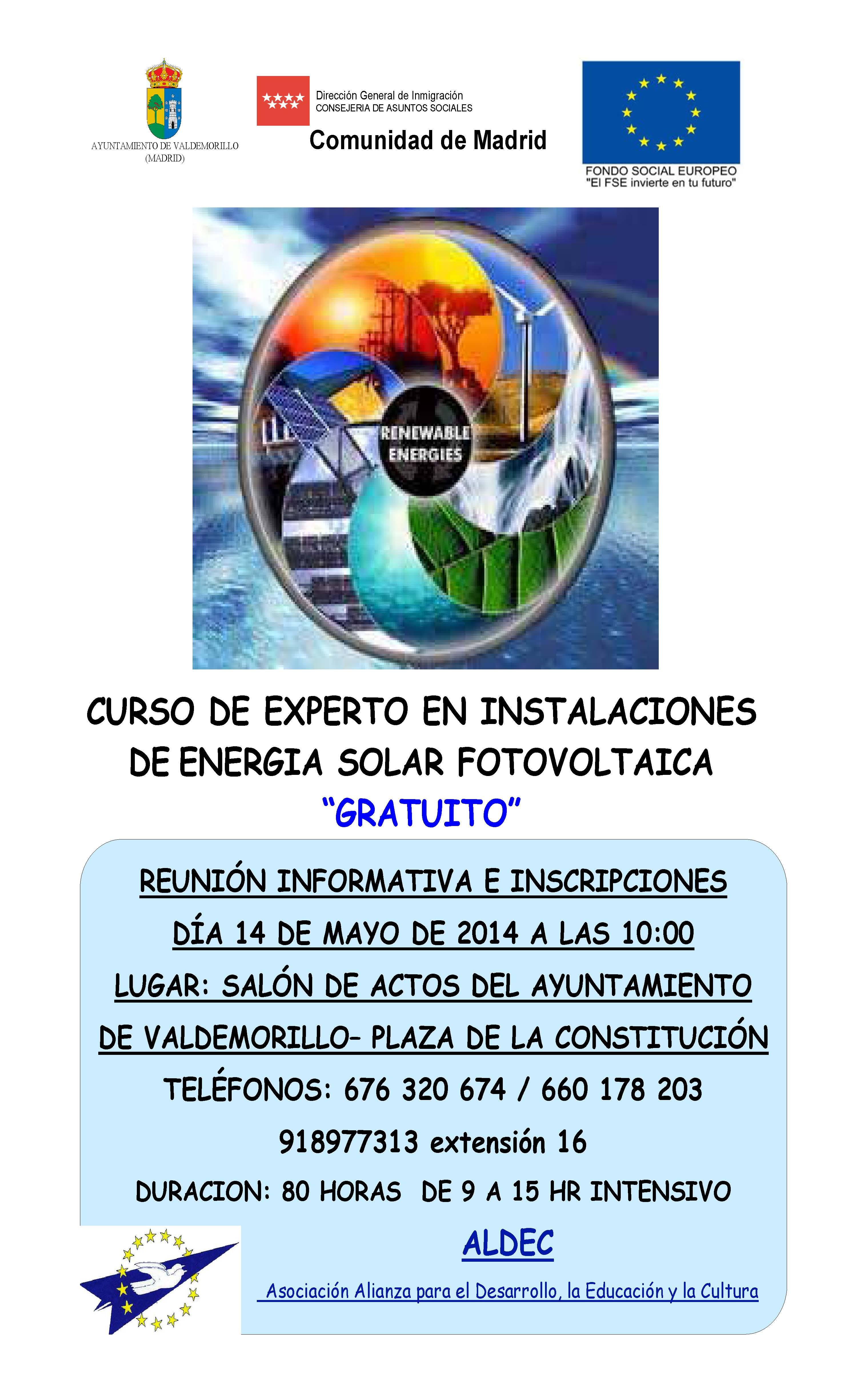 Curso de experto en instalaciones de energ a solar fotovoltaica en valdemorillo a21 peri dico - Energia solar madrid ...