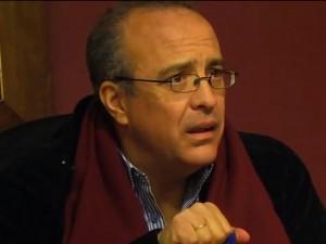 El alcalde, Rubén Rodríguez, en el momento de los hechos.