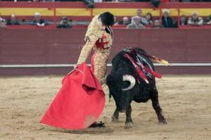 Torero y toro triunfadores.