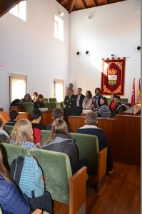 Imagen de la recepción en el Salón de Plenos.