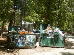 Cubos basura zona Picadas. San Martín.