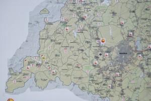 Plano de los medios forestales disponibles en la Comunidad de madrid; detalle de la Sierra Oeste.