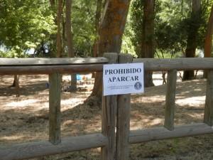 Carteles de los forestales. Zona Picadas.