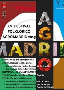 CARTEL FESTIVAL FOLKLORICO AGROMADRID 2015