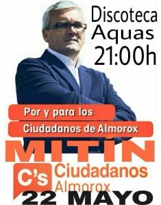 Cartel electoral con la imagen de Ángel Jesús Cuesta.