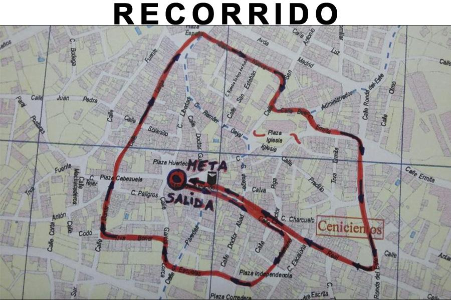 San Esteban 2015 recorrido