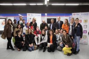 """PRESENTA LA CAMPAÑA SOLIDARIA DE METRO """"EN LÍNEA CON QUIEN MÁS LO NECESITA"""" El consejero de Transportes, Vivienda e Infraestructuras Comunidad de Madrid, Pedro Rollán, presenta la nueva campaña solidaria de Metro """"En línea con quien más lo necesita"""" por la que cada línea de Metro participa con una causa solidaría de una ONG diferente.  FOTO MIGUEL BERROCAL/COMUNIDAD DE MADRID"""