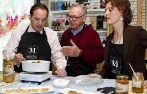González Taboada asistió a una degustación de platos ecológicos madrileños en Madrid Fusión.