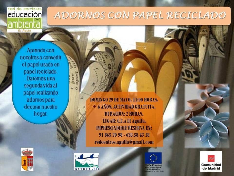 29 MAYO - Adornos con papel reciclado
