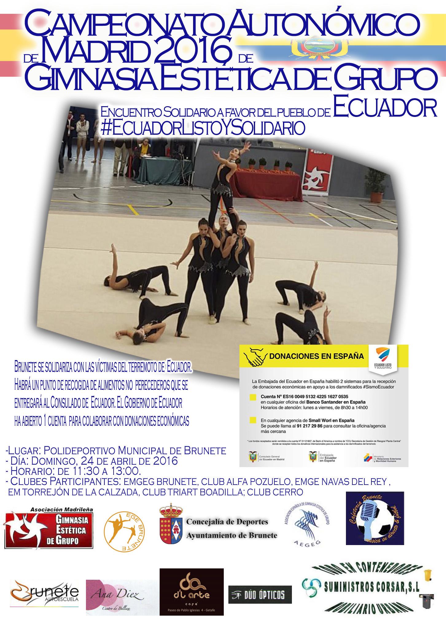Cartel Ecuador Solidaridad Brunete