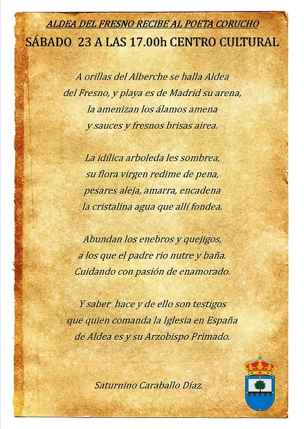 Poema de Saturnino Caraballo.