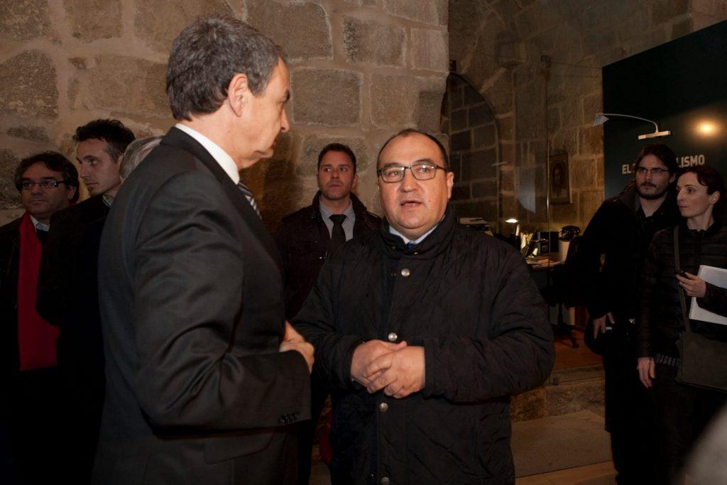 Zapatero y el alcalde de Cebreros.