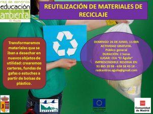 Domingo 26 Junio - Reutilización materiales reciclaje