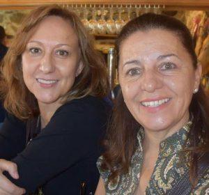 Graciela Álvarez (izquierda) con Fuencisla Heras (derecha).