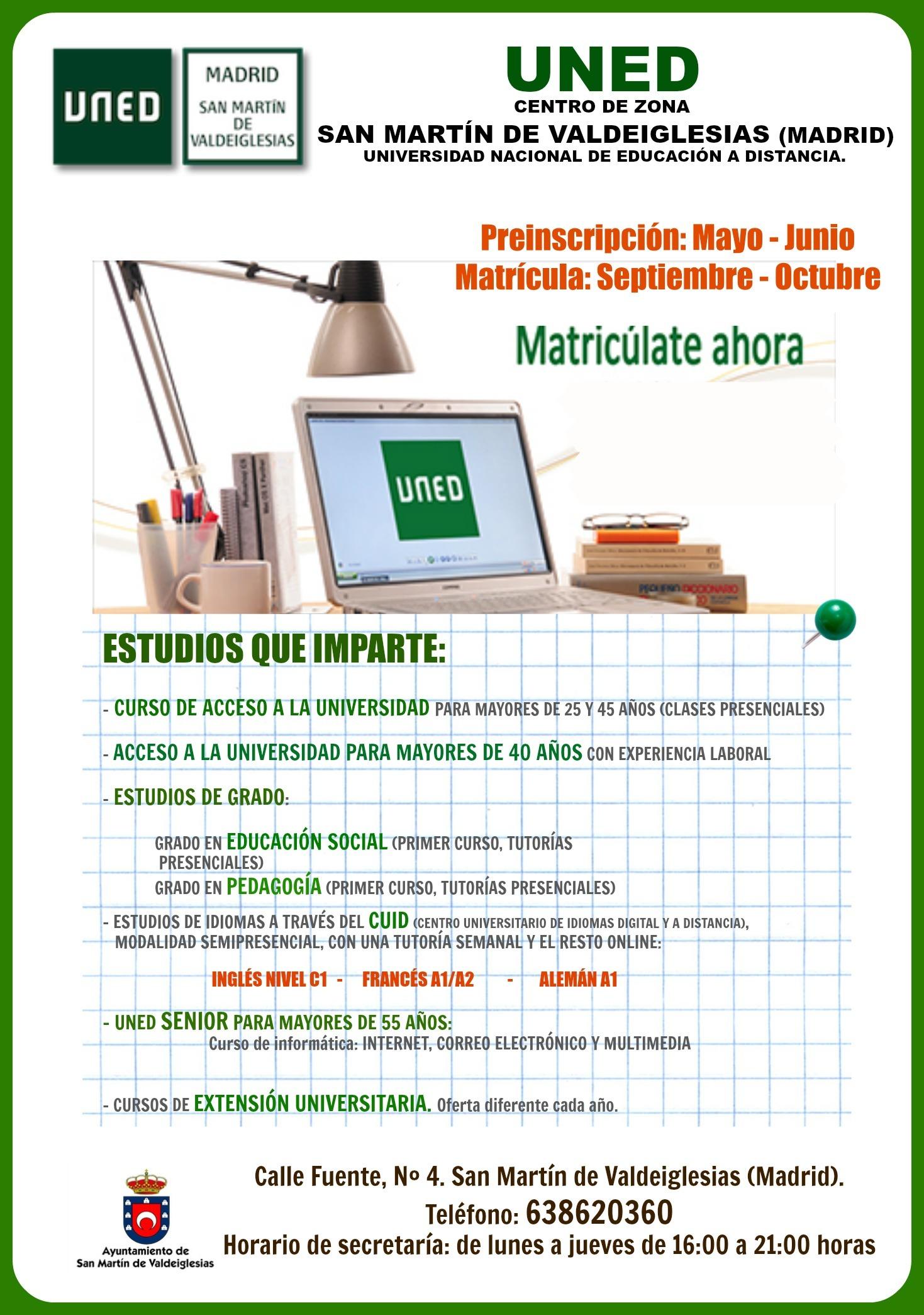 uned idiomas madrid: