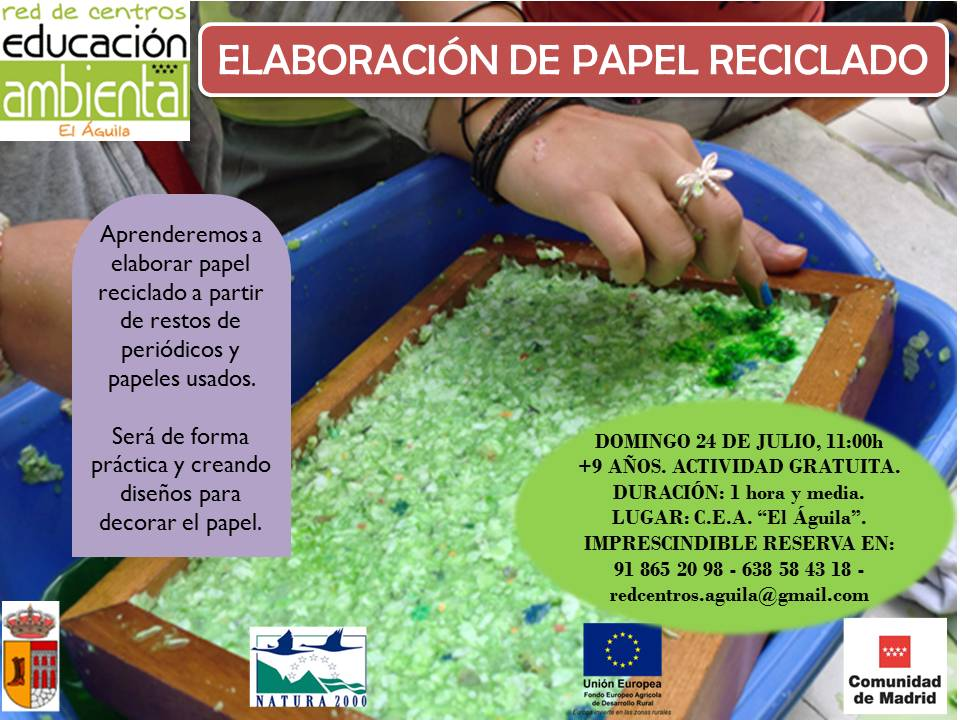24 Julio- Papel reciclado