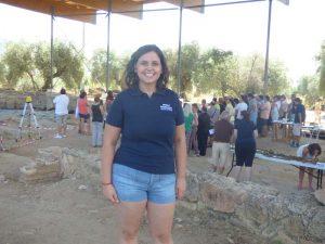 La arqueóloga Elena Sanz Sanz.
