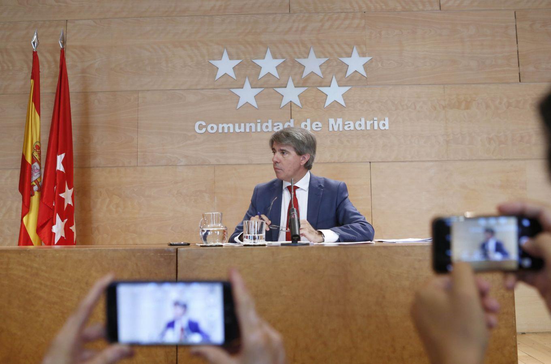 Ángel Garrido en la rueda de prensa tras el Consejo de Gobierno.