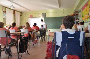 Escolares en el inicio del curso.