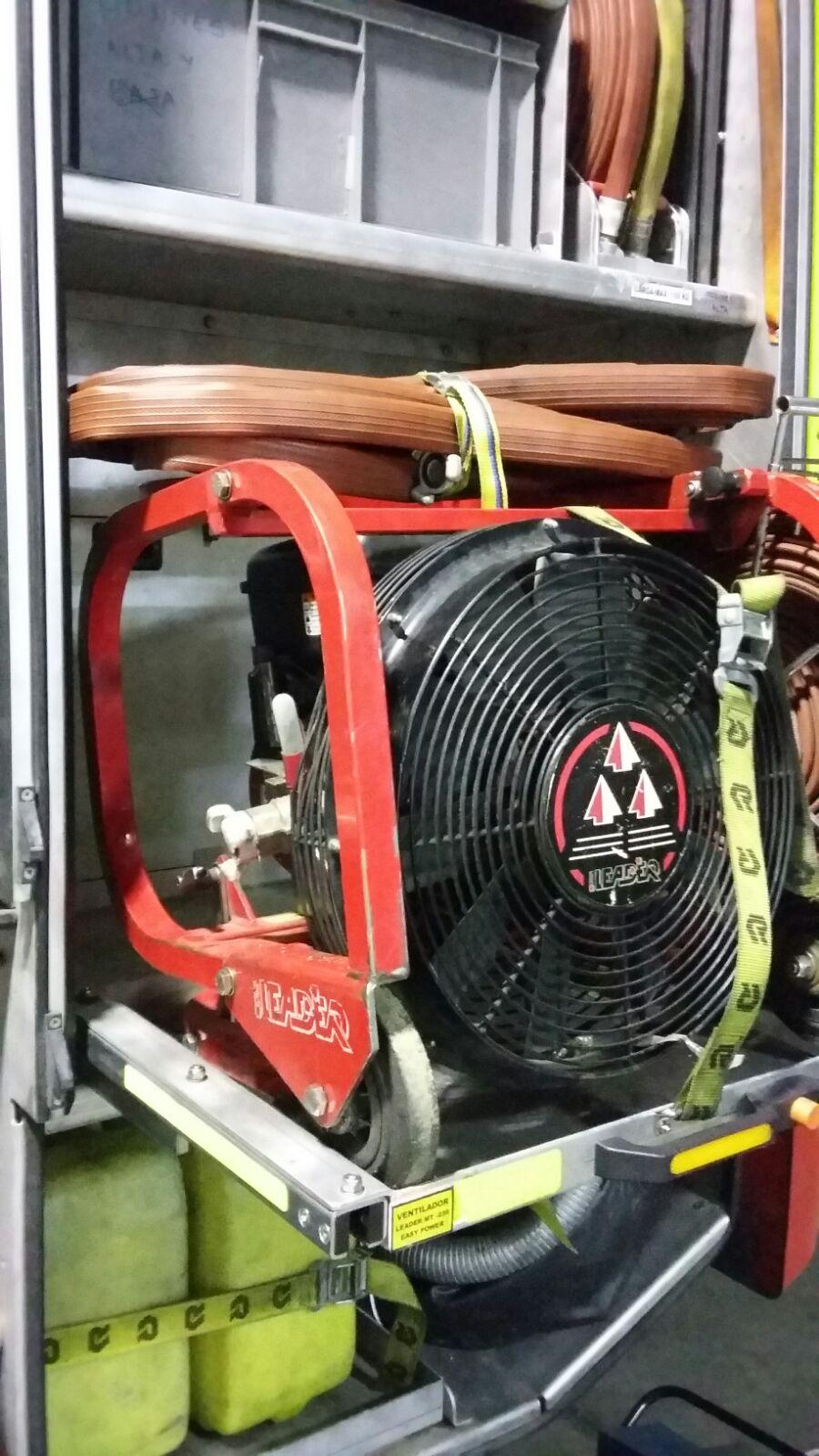 Ventilador para introducir aire limpio del exterior.